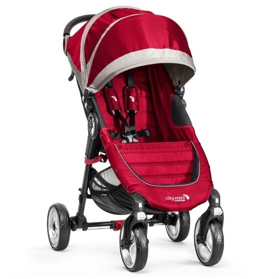 Kočárek Baby Jogger City Mini 4W Crimson/Gray BJ10436