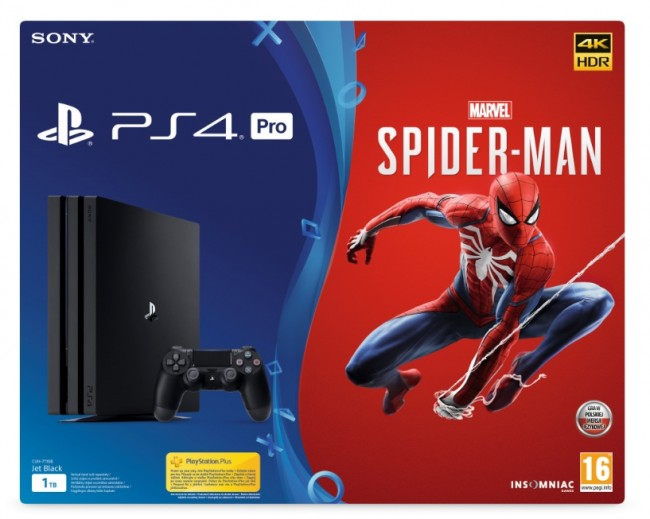 Sony PlayStation 4 Pro 1TB + Spider-Man