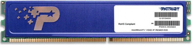 Patriot Signature Line Blue 2GB [1x2GB 800MHz DDR2 CL6 DIMM] PSD22G80026H